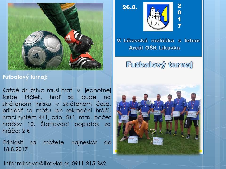 Futbalový turnaj rekreačných hráčov